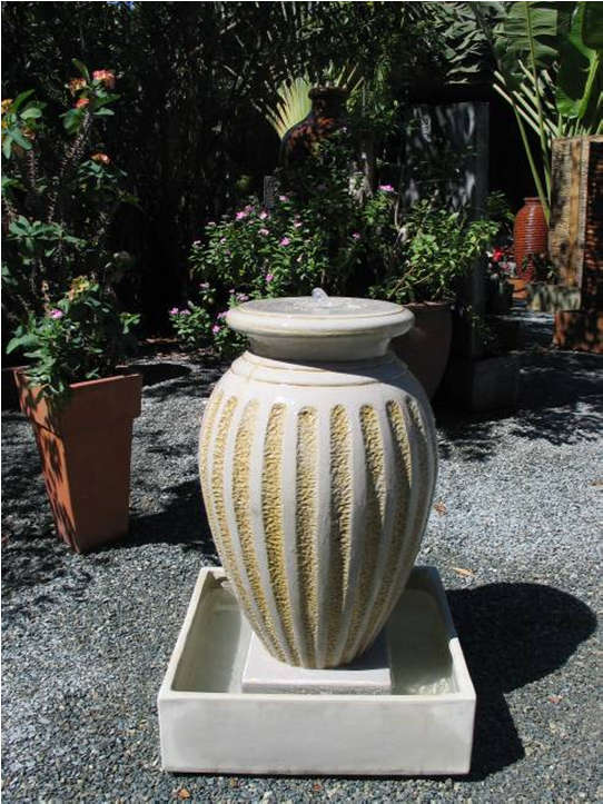 Fs036 fluted flared urn fountain grow landscape for Grow landscapes christchurch